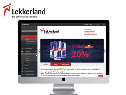 Lekkerland24 is de uitgebreide webportal van groothandelsketen Lekkerland. Hij werd speciaal voor Lekkerland ontwikkeld door Extendas.