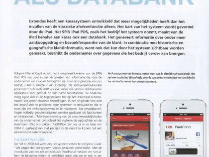 iPad Kassa fungeert als databank