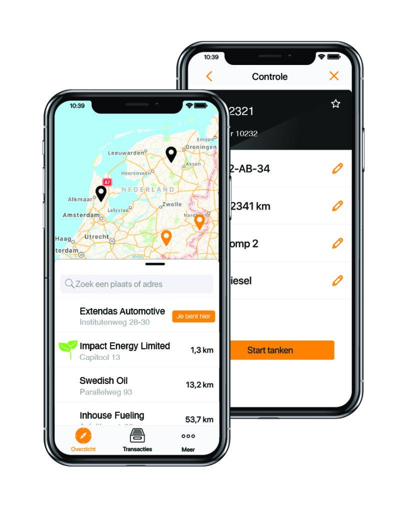 SPINpay app van Extendas op iPhoneX