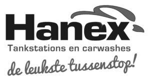 Hanex logo zwart wit