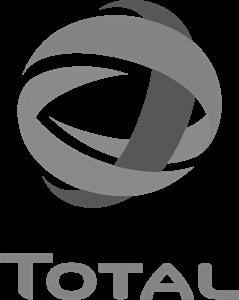 Total logo zwart wit
