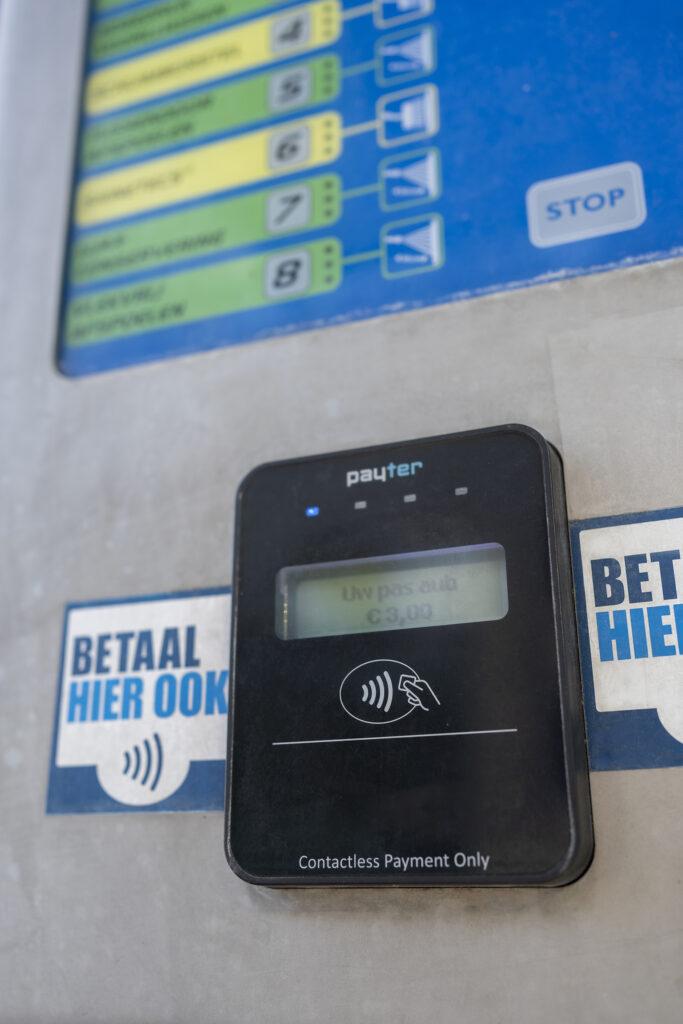 Payter terminal bij wasbox